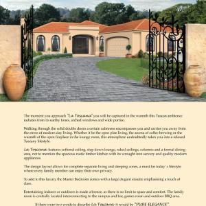 Profile Homes: La Toscana Poster